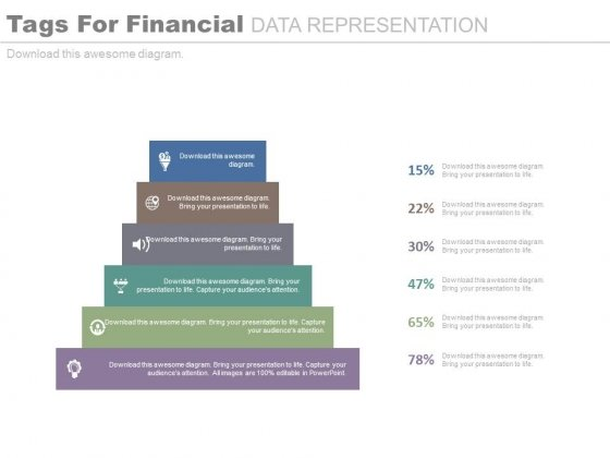 Six Steps Diagram For Financial Ratio Analysis Powerpoint Slides