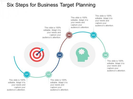 Six Steps For Business Target Planning Ppt PowerPoint Presentation Gallery Icon