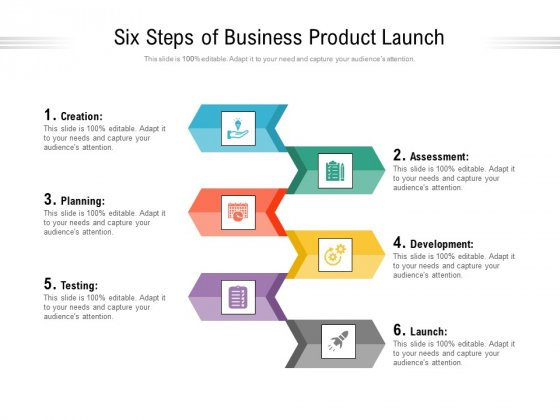 Six Steps Of Business Product Launch Ppt PowerPoint Presentation Infographic Template Show PDF