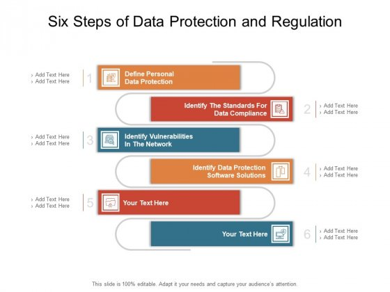 Six Steps Of Data Protection And Regulation Ppt PowerPoint Presentation Graphics PDF