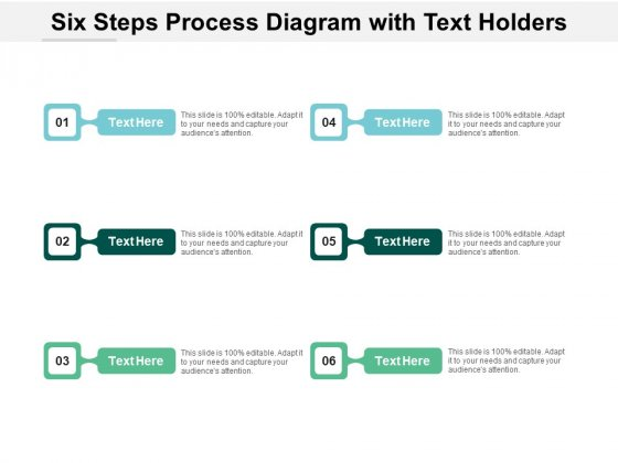 Six Steps Process Diagram With Text Holders Ppt PowerPoint Presentation Infographics Clipart