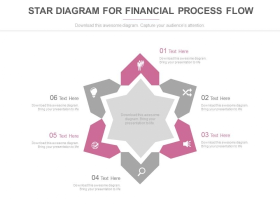 Six Steps Star Diagram With Icons Powerpoint Template