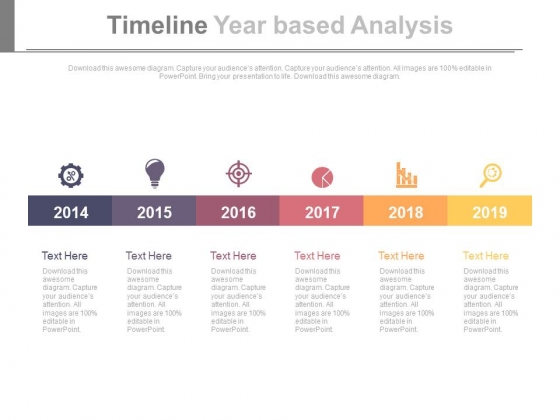 Six Steps Timeline For Business Research And Analysis Powerpoint Slides