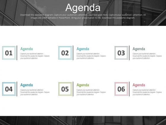 Six Steps To Build Marketing Agenda Powerpoint Slides