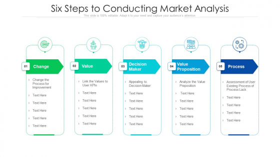 Six Steps To Conducting Market Analysis Ppt PowerPoint Presentation File Background Image PDF