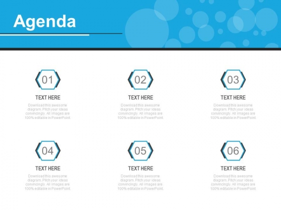 Six Steps To Prepare An Agenda Powerpoint Slides