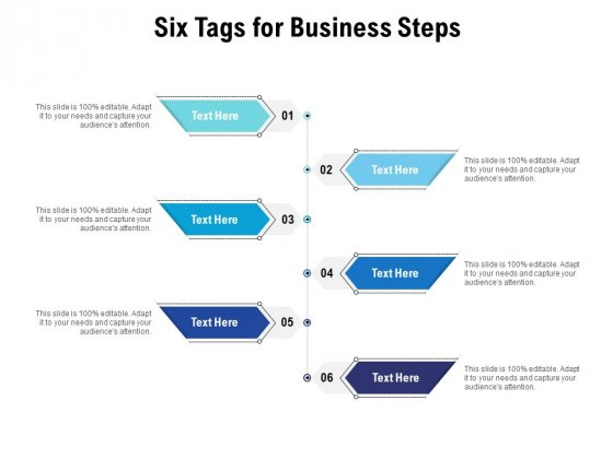 Six Tags For Business Steps Ppt PowerPoint Presentation Icon Graphics