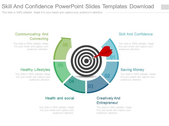 Skill And Confidence Powerpoint Slides Templates Download