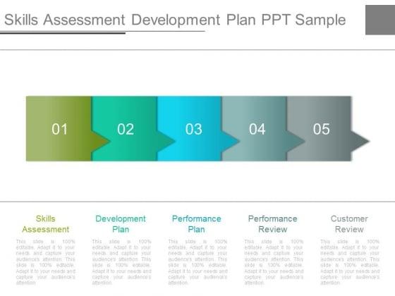 Skills Assessment Development Plan Ppt Sample