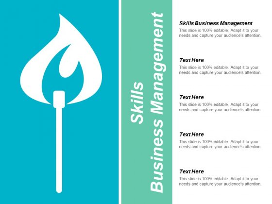 Skills Business Management Ppt PowerPoint Presentation Outline Layout Cpb
