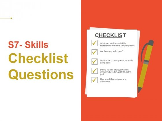 Skills Checklist Questions Ppt PowerPoint Presentation Model Themes