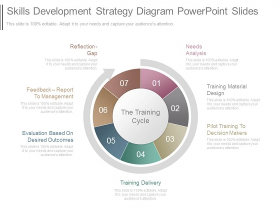 Skills Development Strategy Diagram Powerpoint Slides
