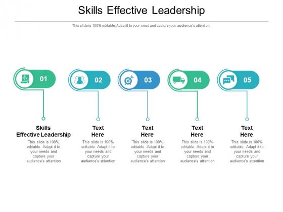 Skills Effective Leadership Ppt PowerPoint Presentation Slides Portrait Cpb