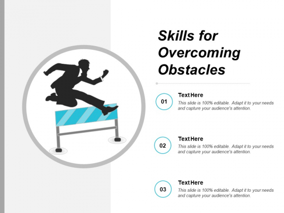 Skills For Overcoming Obstacles Ppt PowerPoint Presentation Show Graphics