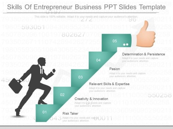 Skills Of Entrepreneur Business Ppt Slides Template