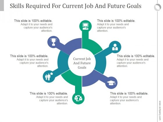Skills Required For Current Job And Future Goals Ppt PowerPoint Presentation Show