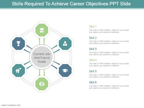 Skills Required To Achieve Career Objectives Ppt Slide