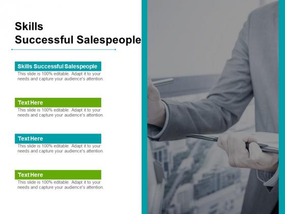 Skills Successful Salespeople Ppt PowerPoint Presentation Summary Professional Cpb Pdf
