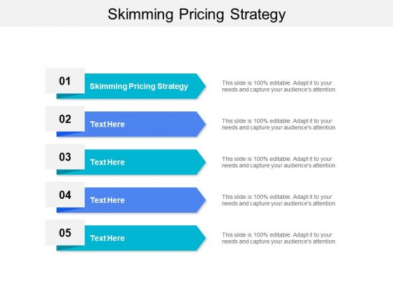 Skimming Pricing Strategy Ppt PowerPoint Presentation Show Topics Cpb