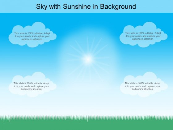 Sky With Sunshine In Background Ppt PowerPoint Presentation Professional Grid