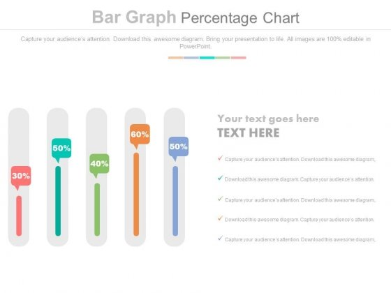Sliders Percentage Data Chart Powerpoint Slides - PowerPoint Templates