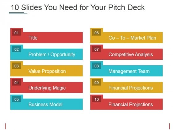 Slides You Need For Your Pitch Deck Ppt PowerPoint Presentation Gallery Sample