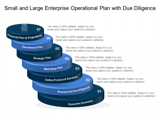 Small And Large Enterprise Operational Plan With Due Diligence Ppt PowerPoint Presentation Gallery Design Ideas PDF