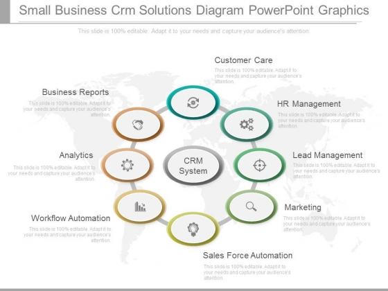 Small Business Crm Solutions Diagram Powerpoint Graphics