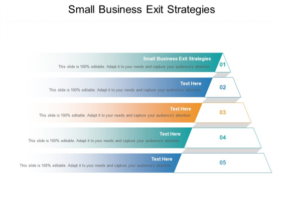 Small Business Exit Strategies Ppt PowerPoint Presentation Infographics Graphic Tips Cpb Pdf