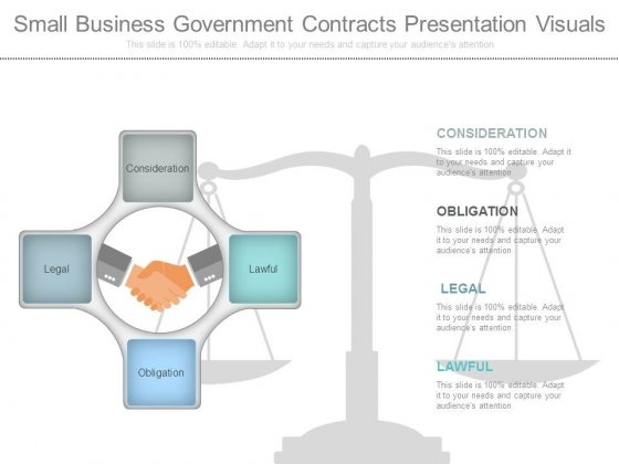 Small Business Government Contracts Presentation Visuals