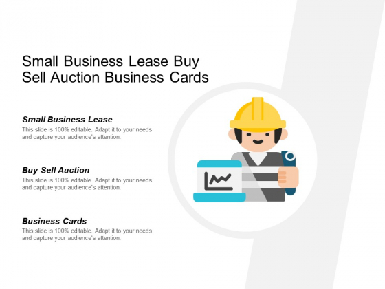 Small Business Lease Buy Sell Auction Business Cards Ppt PowerPoint Presentation Infographics Portrait
