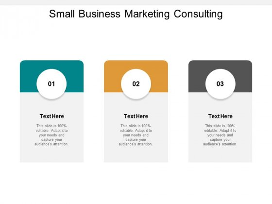 Small Business Marketing Consulting Ppt PowerPoint Presentation Summary Graphics Cpb