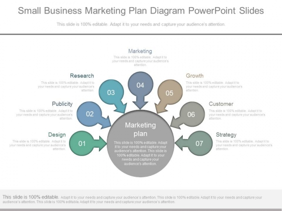 Small Business Marketing Plan Diagram Powerpoint Slides