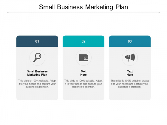 Small Business Marketing Plan Ppt PowerPoint Presentation Icon Display Cpb