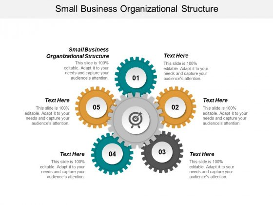 Small Business Organizational Structure Ppt PowerPoint Presentation Icon Deck Cpb