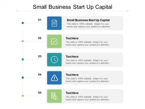 Small Business Start Up Capital Ppt PowerPoint Presentation Icon Graphics Template Cpb