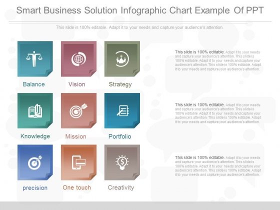 Smart Business Solution Infographic Chart Example Of Ppt