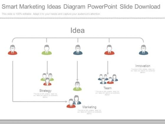Smart Marketing Ideas Diagram Powerpoint Slide Download