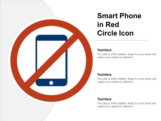 Smart Phone In Red Circle Icon Ppt PowerPoint Presentation Icon Background Image