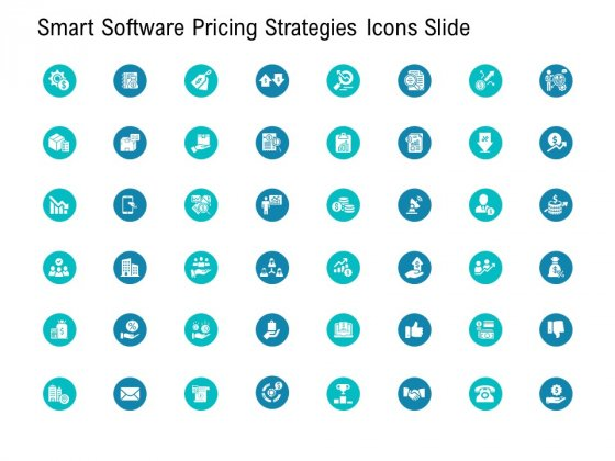 Smart Software Pricing Strategies Icons Slide Ppt Model Introduction PDF