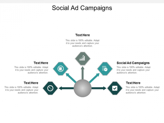 Social Ad Campaigns Ppt PowerPoint Presentation Outline Template Cpb
