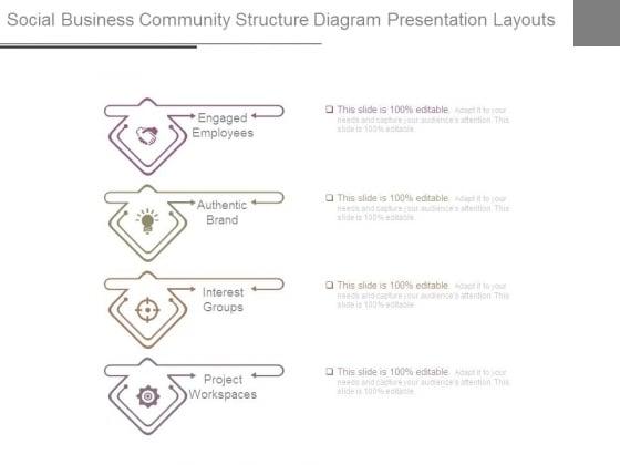 Social Business Community Structure Diagram Presentation Layouts