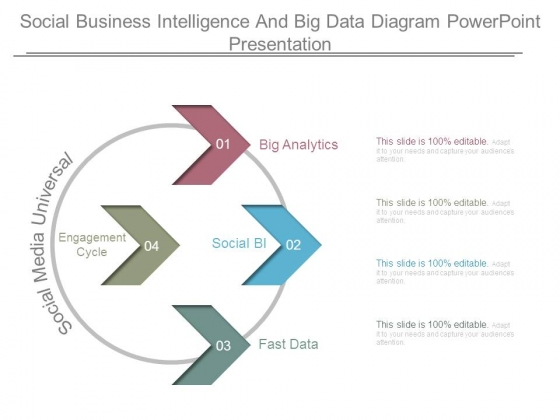 Social Business Intelligence And Big Data Diagram Powerpoint