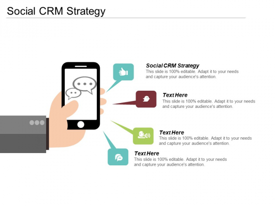 Social CRM Strategy Ppt PowerPoint Presentation Infographics Ideas Cpb