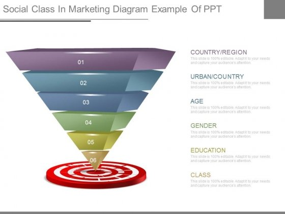 Social Class In Marketing Diagram Example Of Ppt