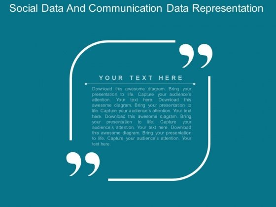 Social Data And Communication Data Representation Powerpoint Template