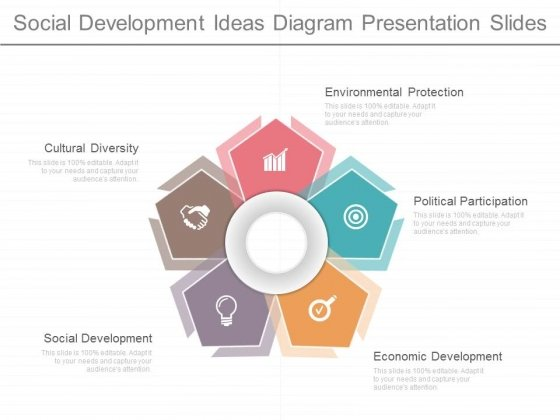 Social Development Ideas Diagram Presentation Slides
