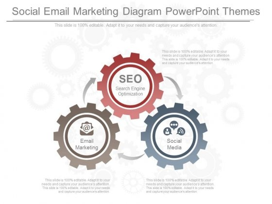 Social Email Marketing Diagram Powerpoint Themes