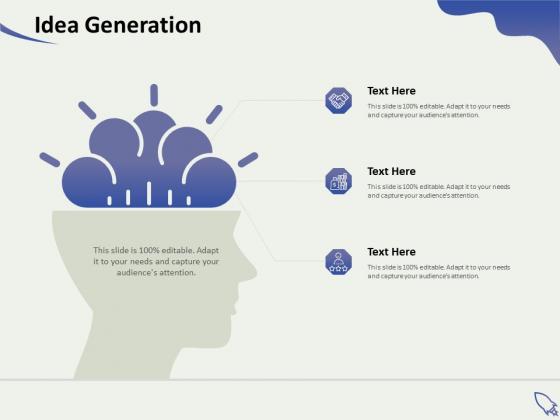 Social Enterprise Funding Idea Generation Ppt PowerPoint Presentation Icon Slides PDF