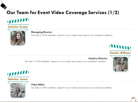 Social_Gathering_Movie_Making_Our_Team_For_Event_Video_Coverage_Services_Ppt_Model_Files_PDF_Slide_1